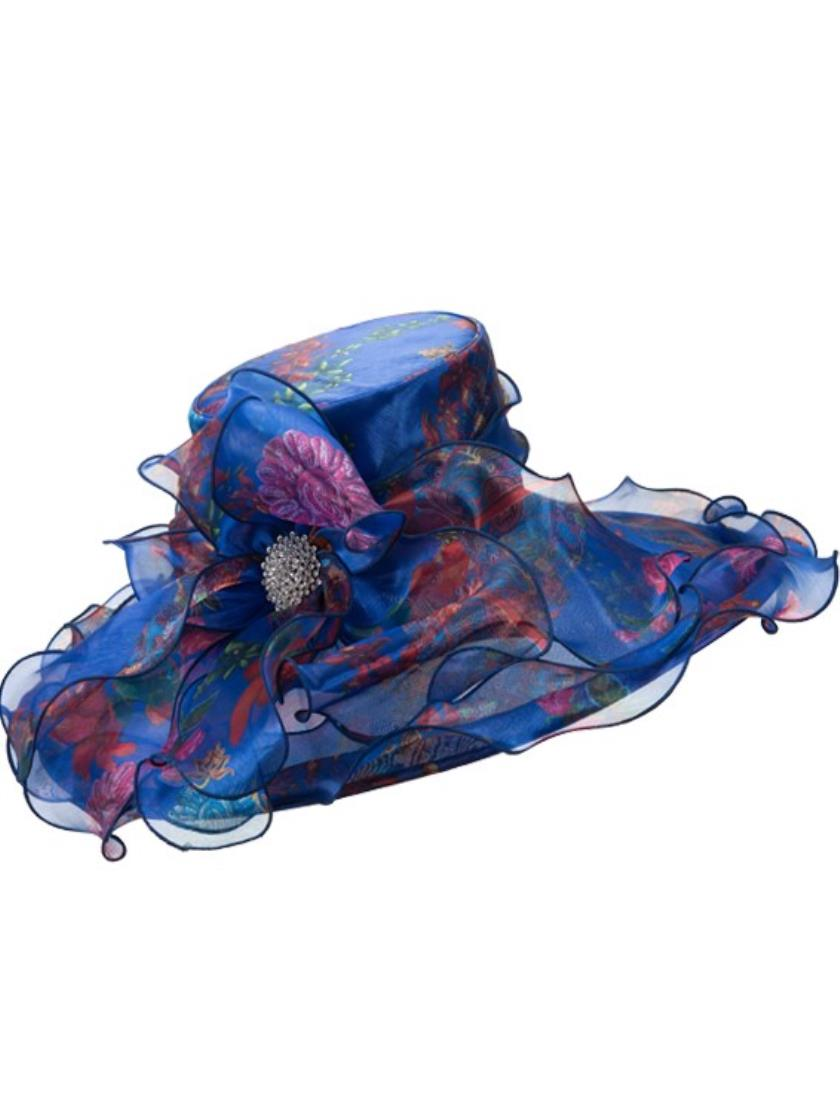Giovanna Church Hat HM958-Blue - Church Suits For Less