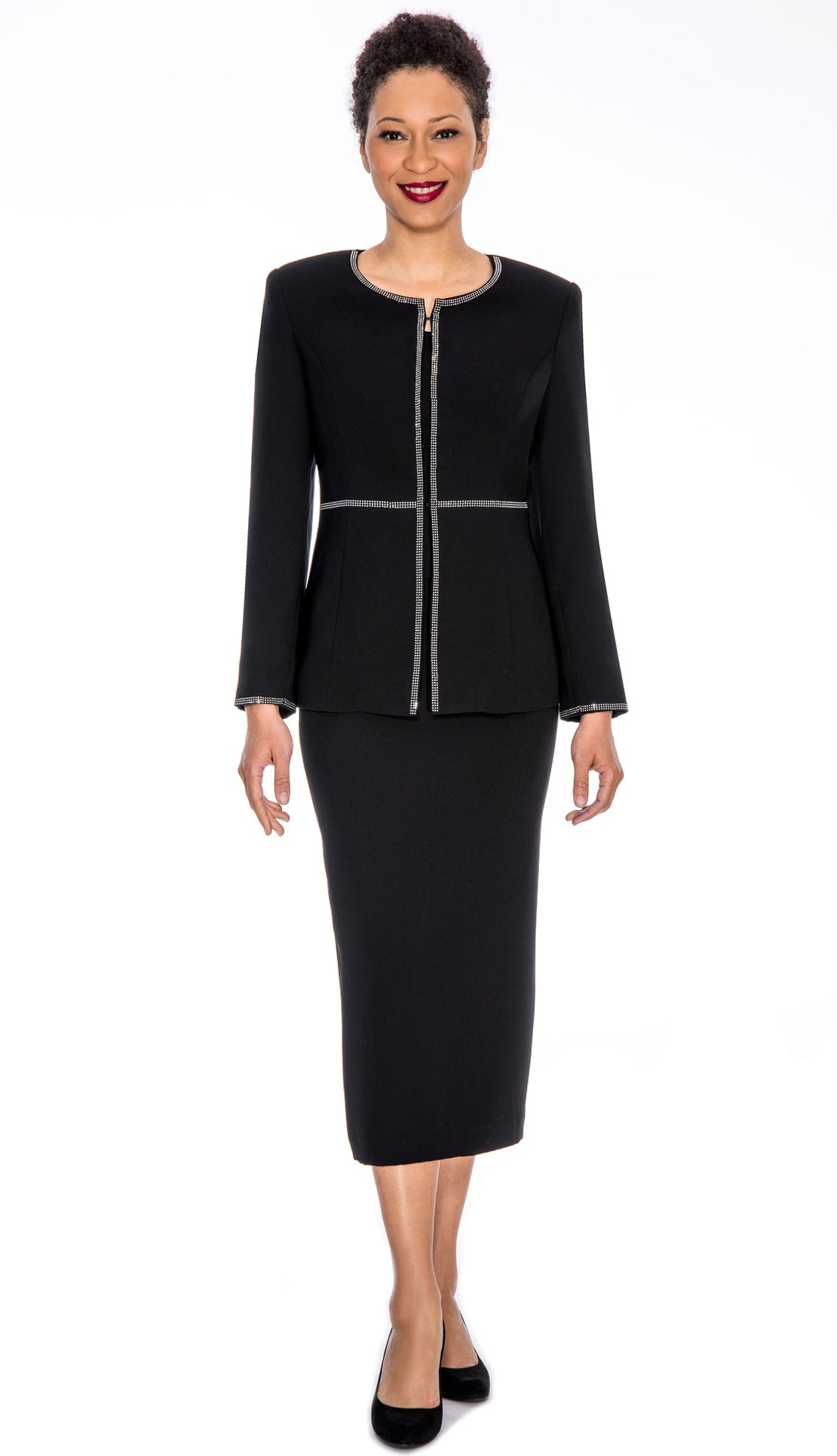 Giovanna Usher Suit 0652-Black - Church Suits For Less
