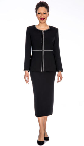 Giovanna Usher Suit 0652-Black