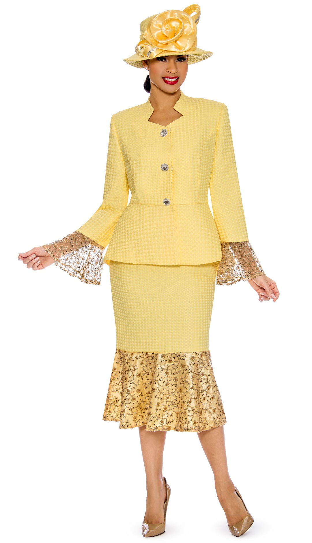 Giovanna Suit 0914C-Yellow - Church Suits For Less