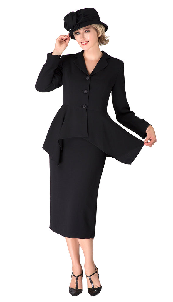 Giovanna Suit 0917-Black - Church Suits For Less