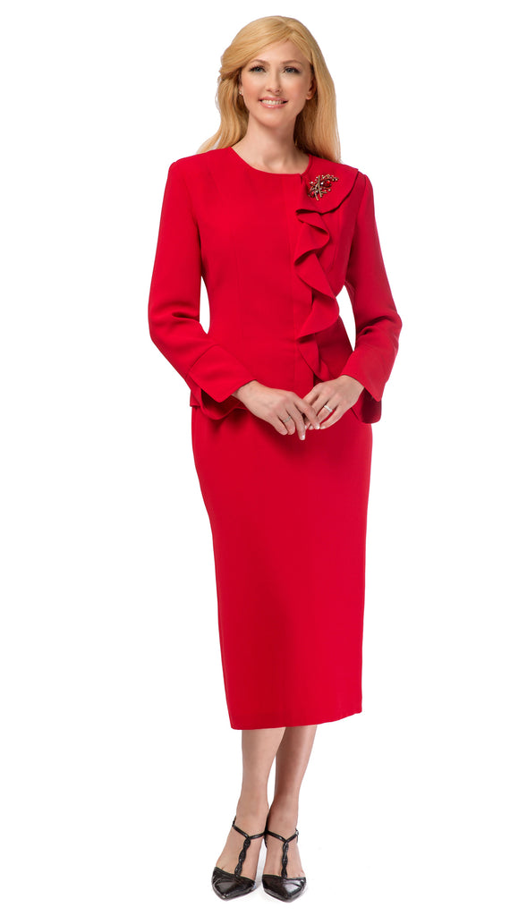 Giovanna Suit 0931-Red - Church Suits For Less