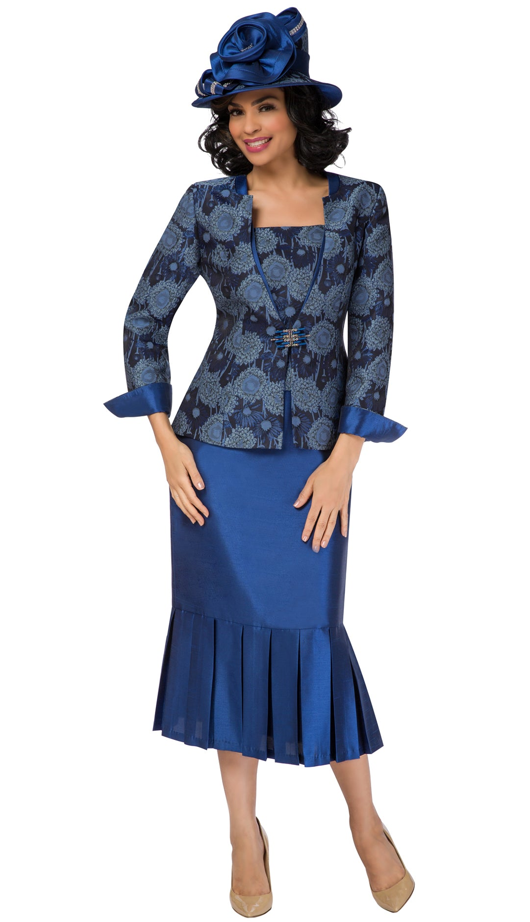 Giovanna Suit 0933C-Sapphire - Church Suits For Less
