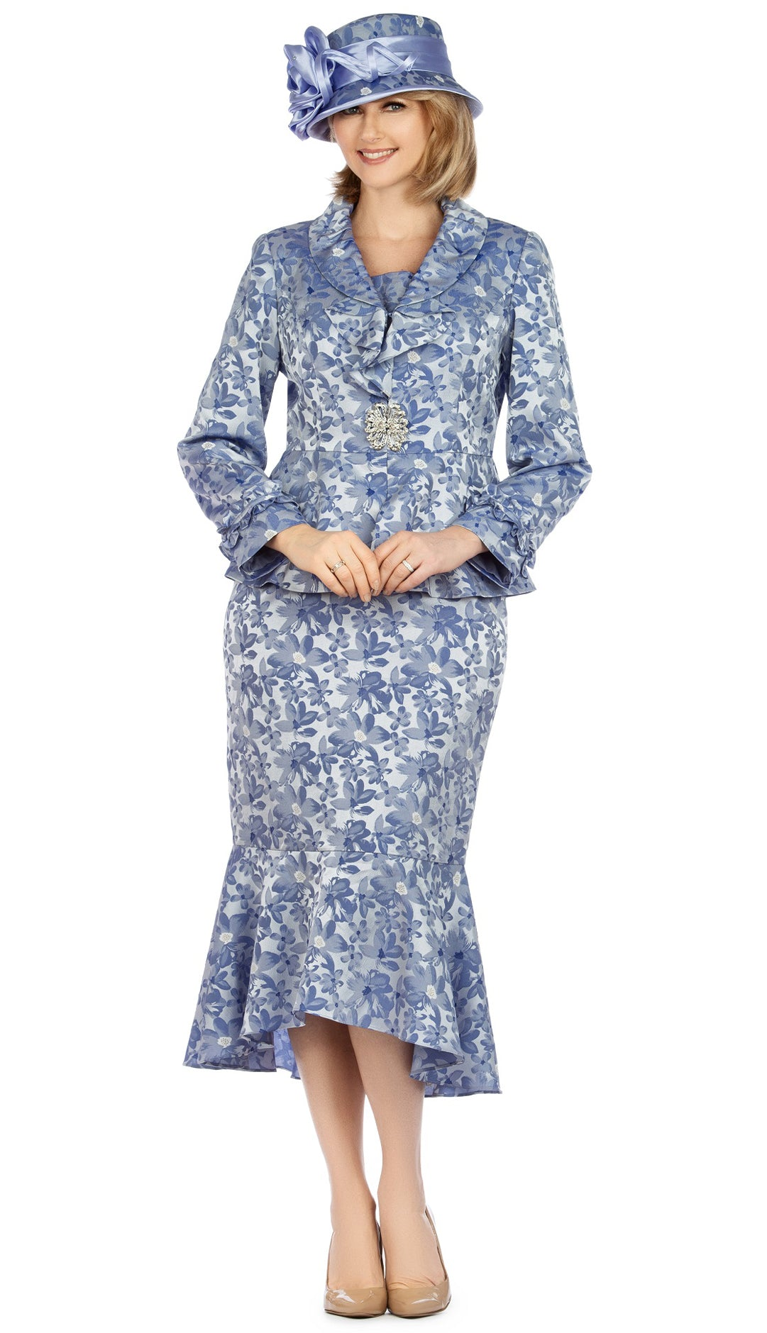 Giovanna Suit 0936-Bluebell - Church Suits For Less