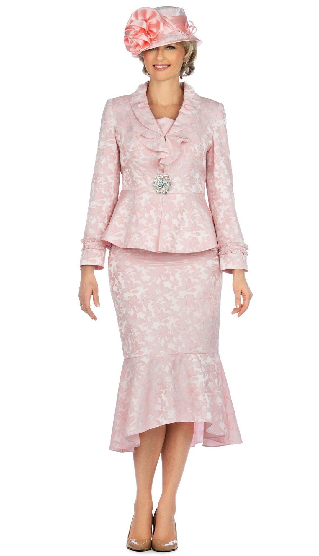 Giovanna Suit 0936-Pink - Church Suits For Less