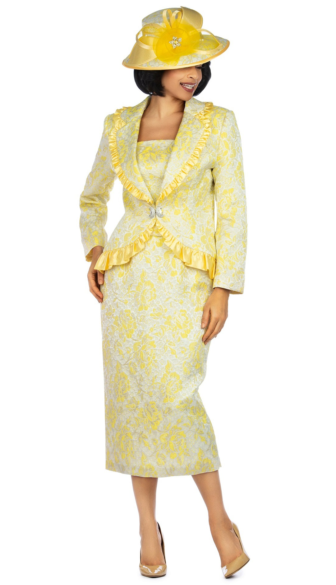 Giovanna Suit 0937-Yellow - Church Suits For Less