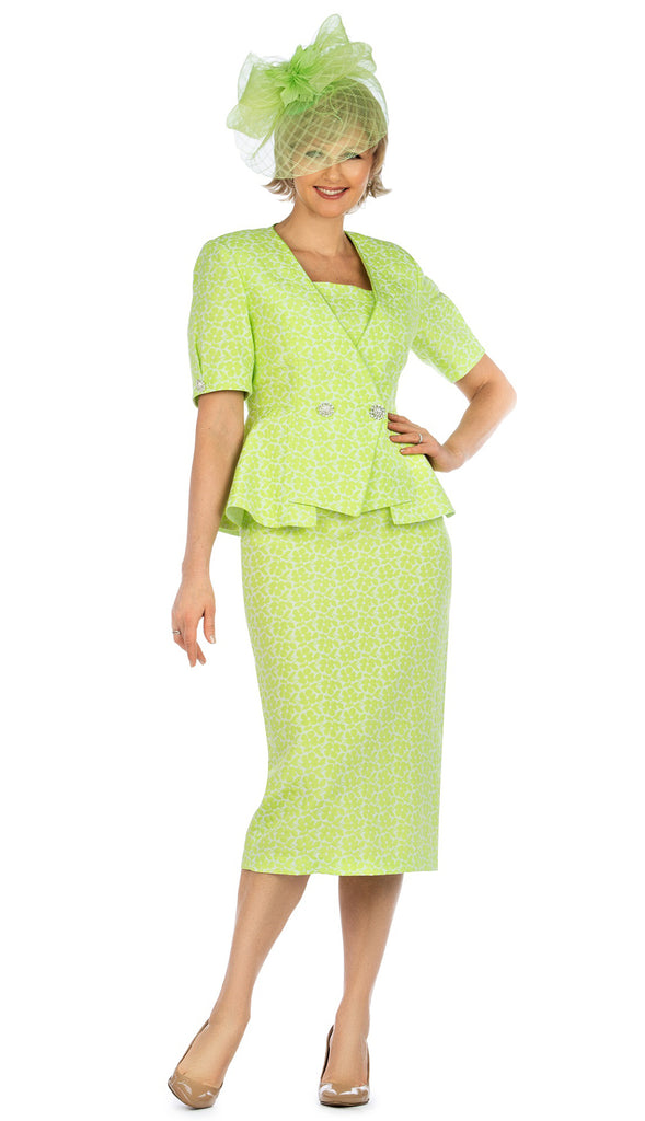 Giovanna Suit 0939-Lime - Church Suits For Less