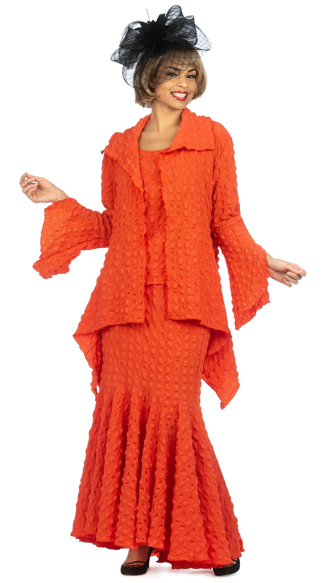 Giovanna Suit 0940-Orange - Church Suits For Less