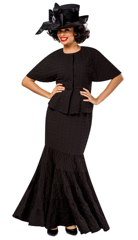Giovanna Suit 0942-Black - Church Suits For Less