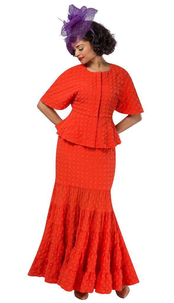 Giovanna Suit 0942-Orange - Church Suits For Less