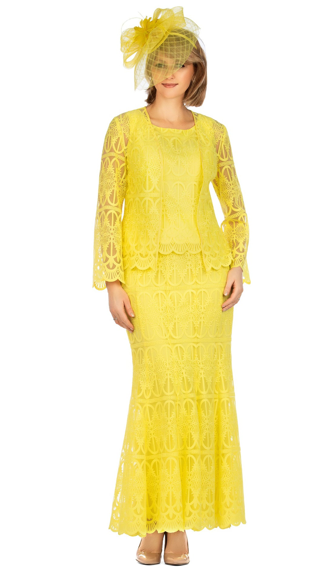 Giovanna Suit 0946-Yellow - Church Suits For Less
