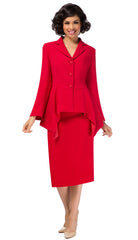 Giovanna Suit 0917-Red - Church Suits For Less