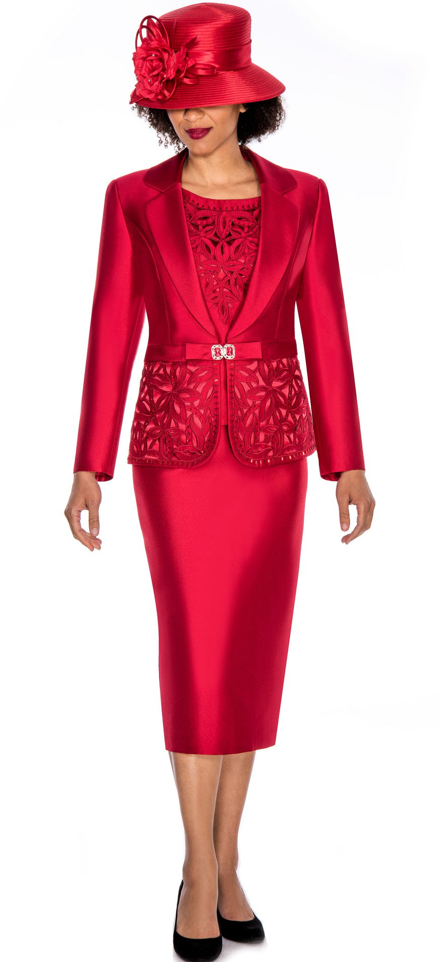 Giovanna Women Suit G1007-Red - Church Suits For Less