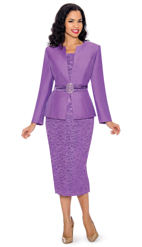 Giovanna Church Suit G1083-Lavender - Church Suits For Less