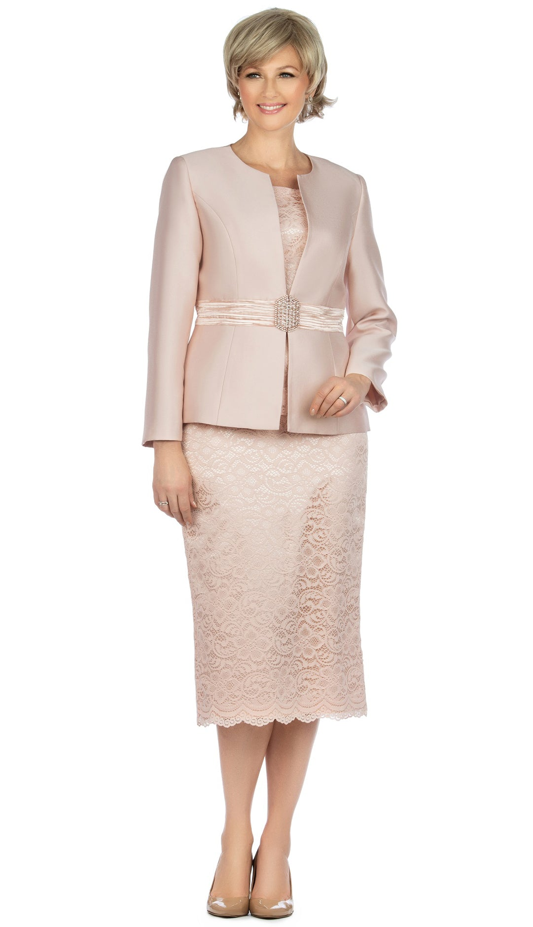 Giovanna Church Suit G1083-Light Pink - Church Suits For Less