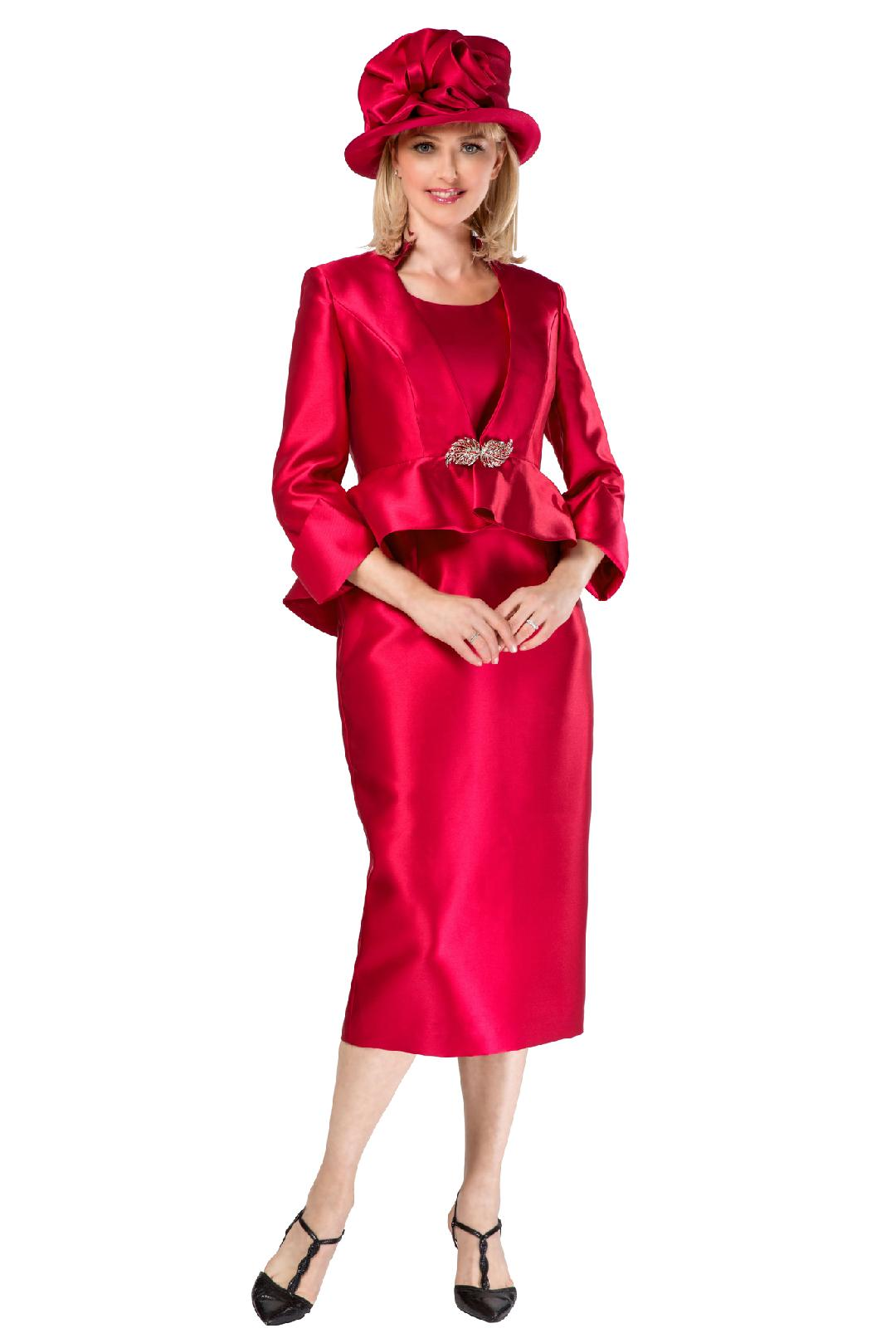 Giovanna Suit G1085-Cranberry - Church Suits For Less