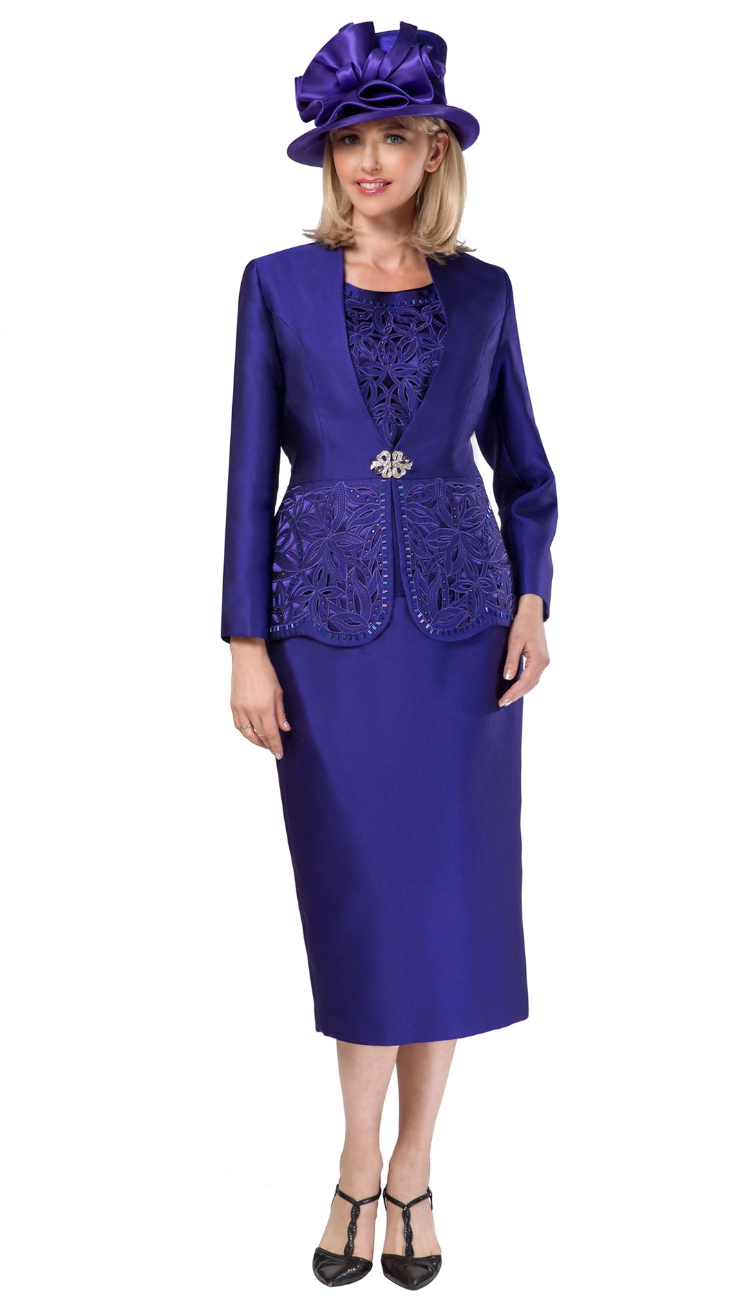 Giovanna Suit G1088-Purple - Church Suits For Less