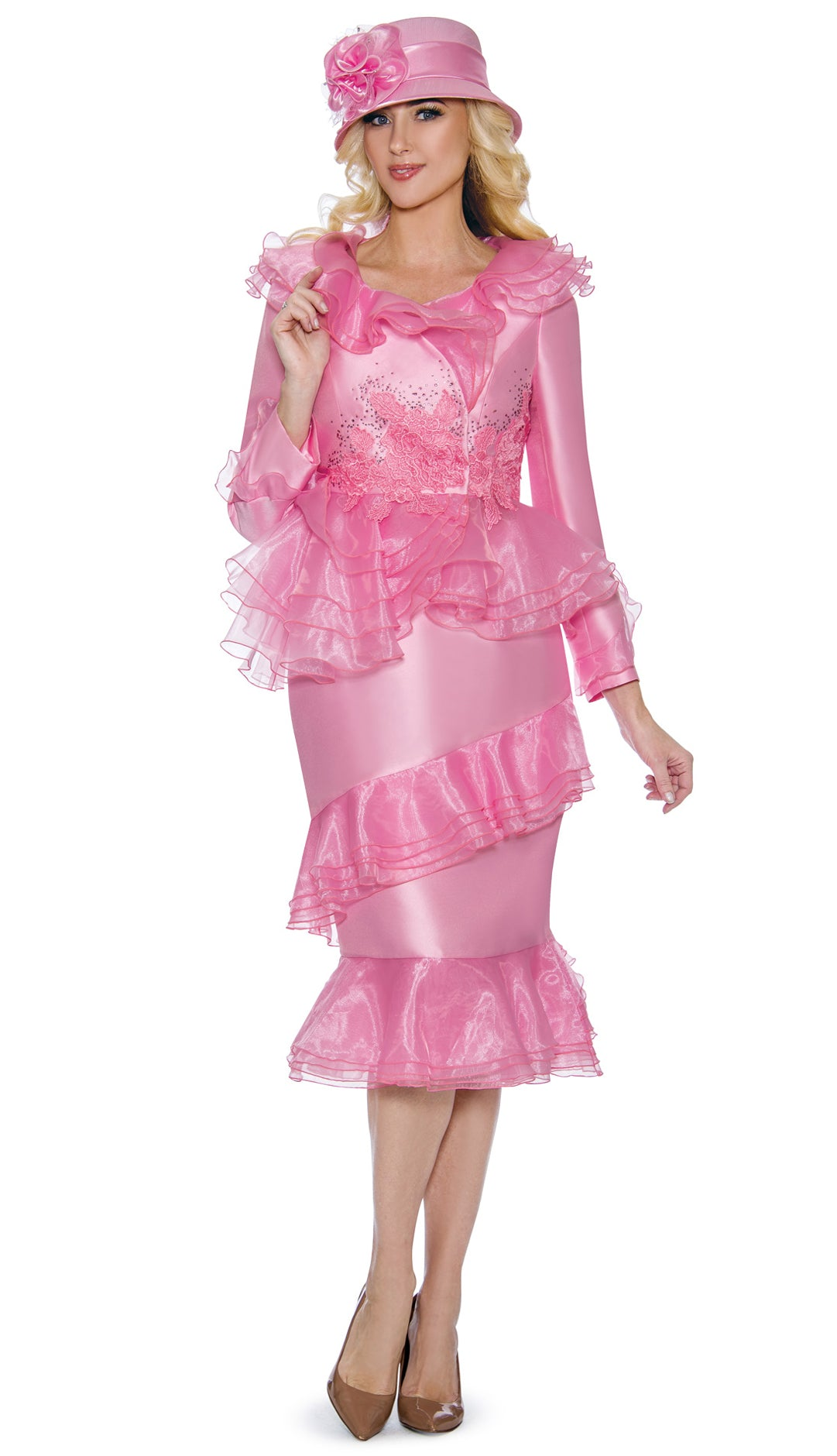 Giovanna Suit G1093-Pink - Church Suits For Less