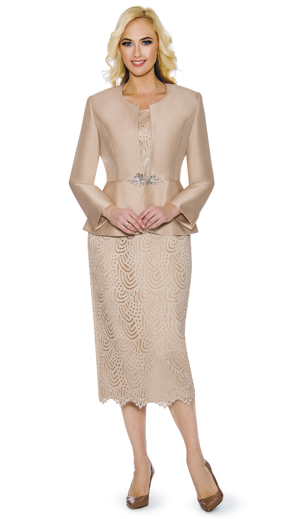 Giovanna Suit G1098-Champagne - Church Suits For Less