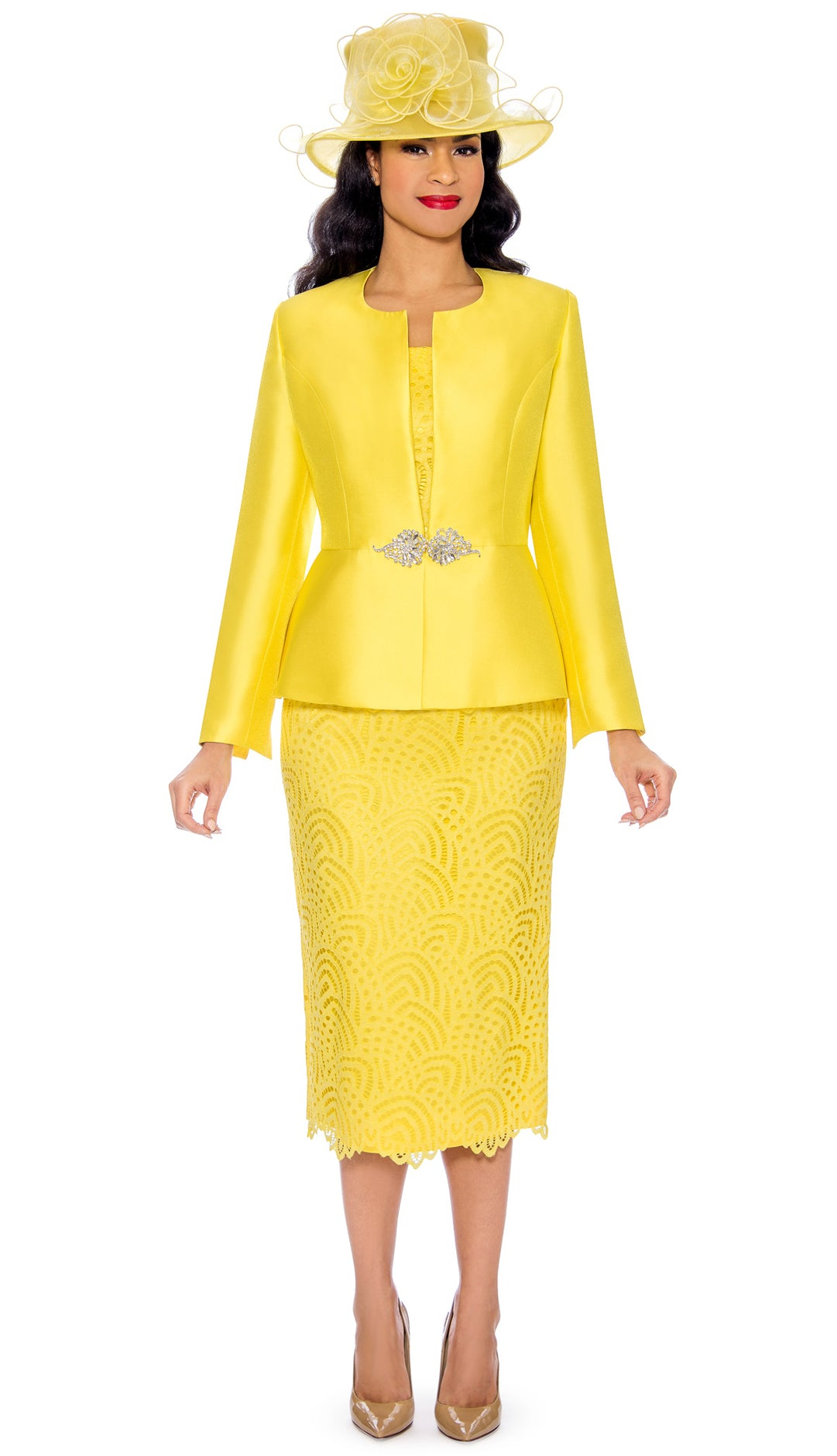 Giovanna Suit G1098-Yellow - Church Suits For Less