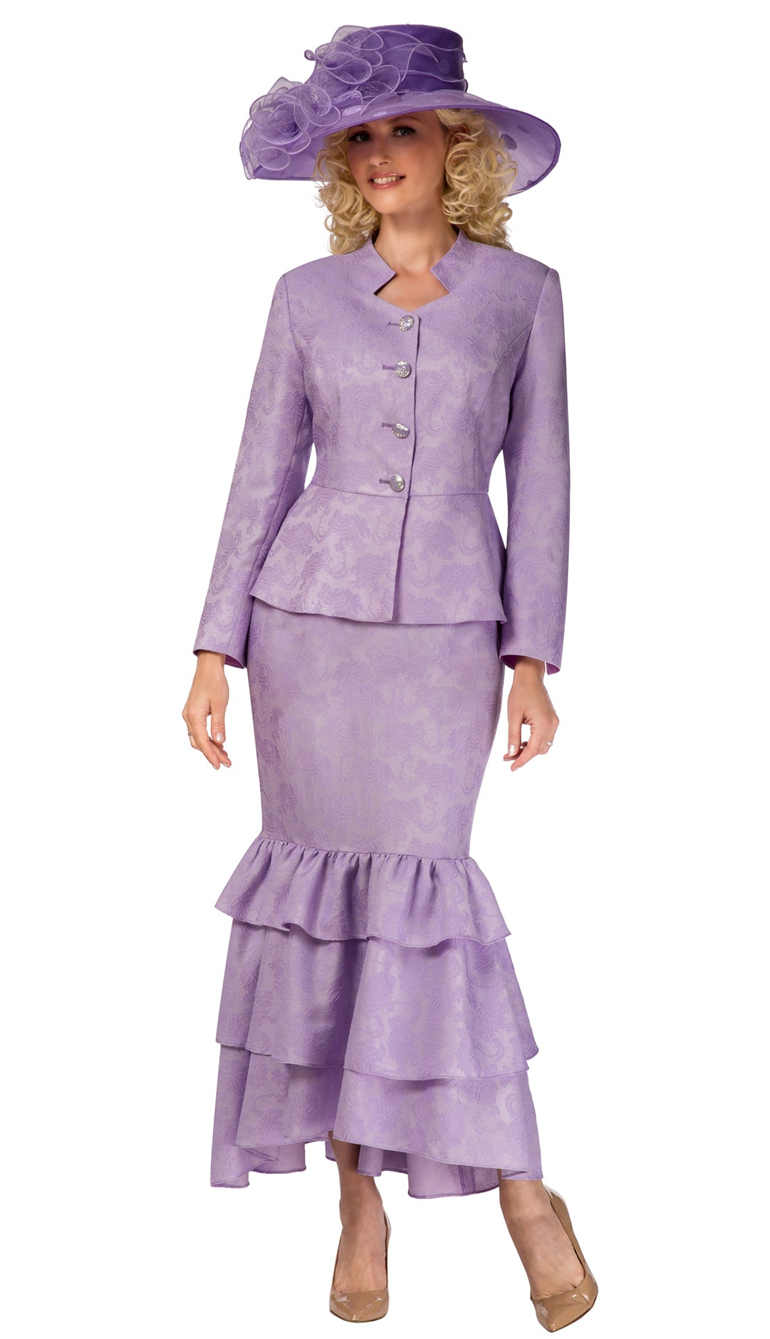 Giovanna Suit G1101-Lavender - Church Suits For Less