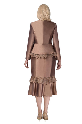 Giovanna Suit G1104-Chocolate - Church Suits For Less