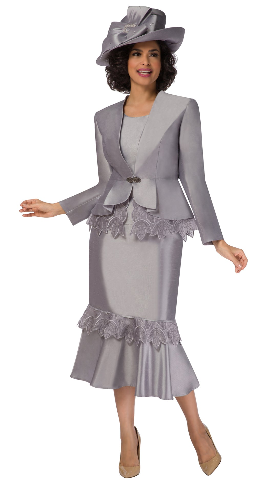Giovanna Suit G1104-Silver - Church Suits For Less