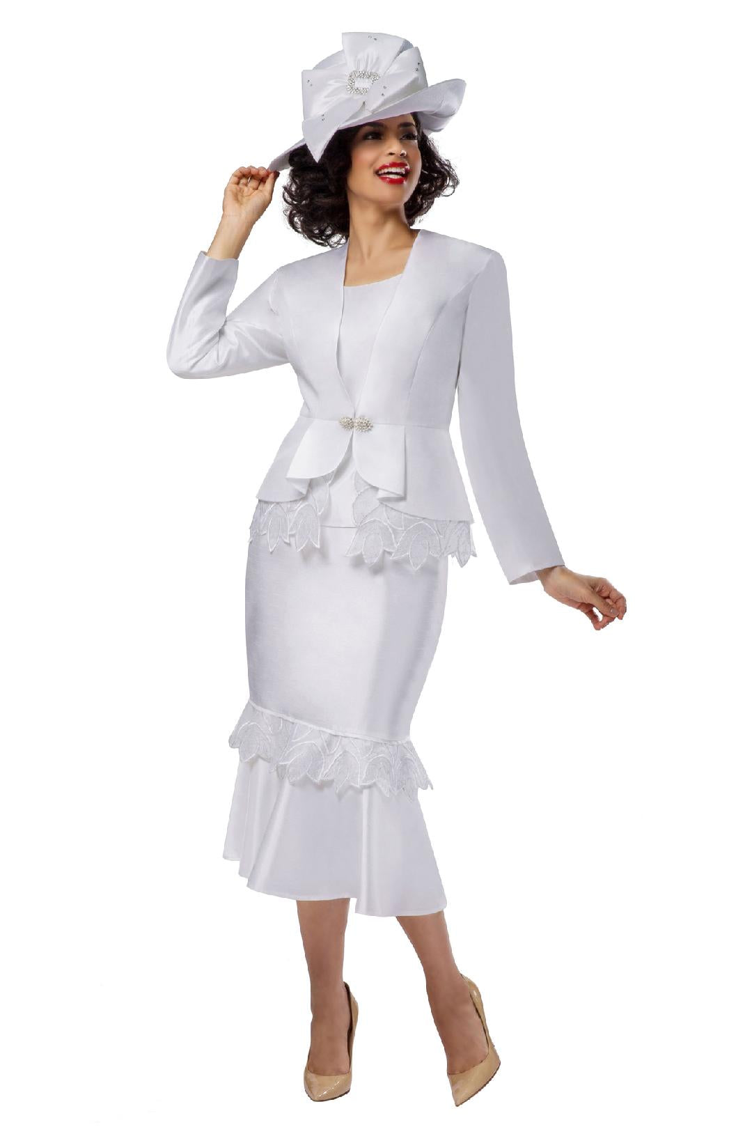 Giovanna Suit G1104-White - Church Suits For Less