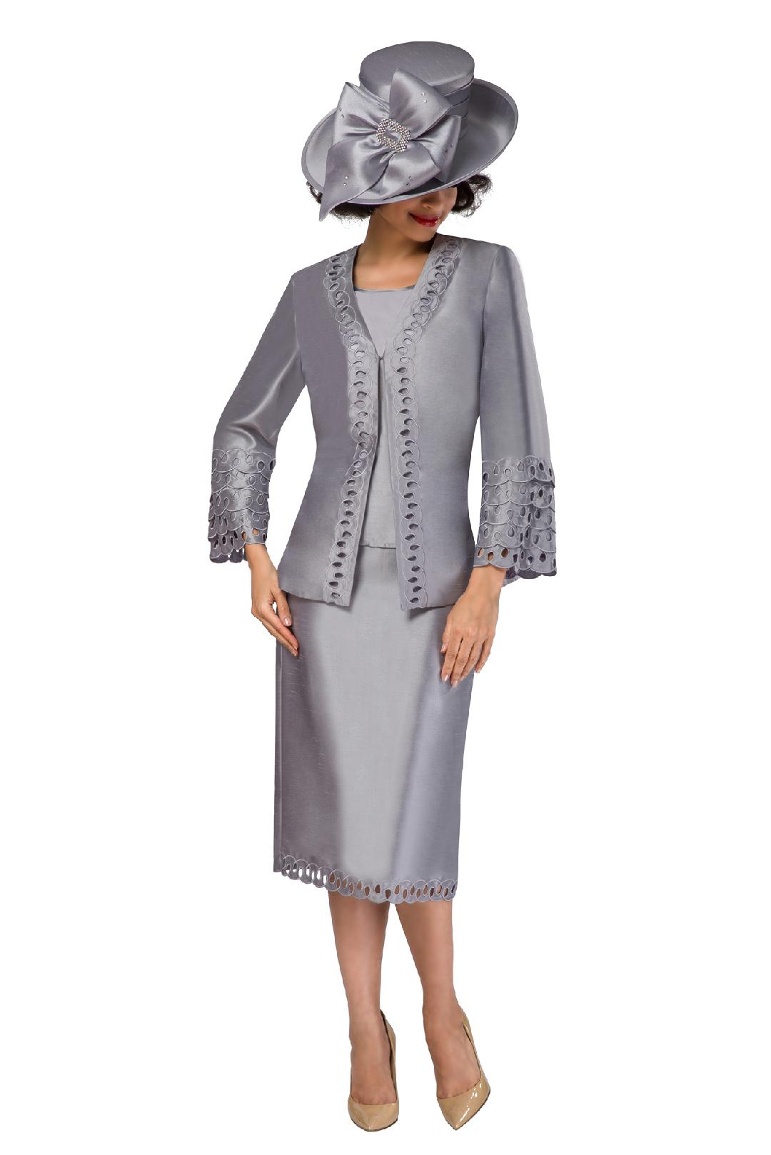 Giovanna Suit G1106C-Silver - Church Suits For Less