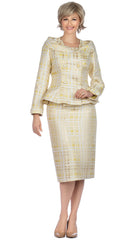 Giovanna Suit G1131-Yellow/Gold - Church Suits For Less