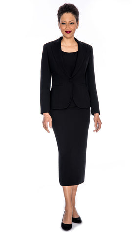 Giovanna Usher Suit 0707-Black - Church Suits For Less