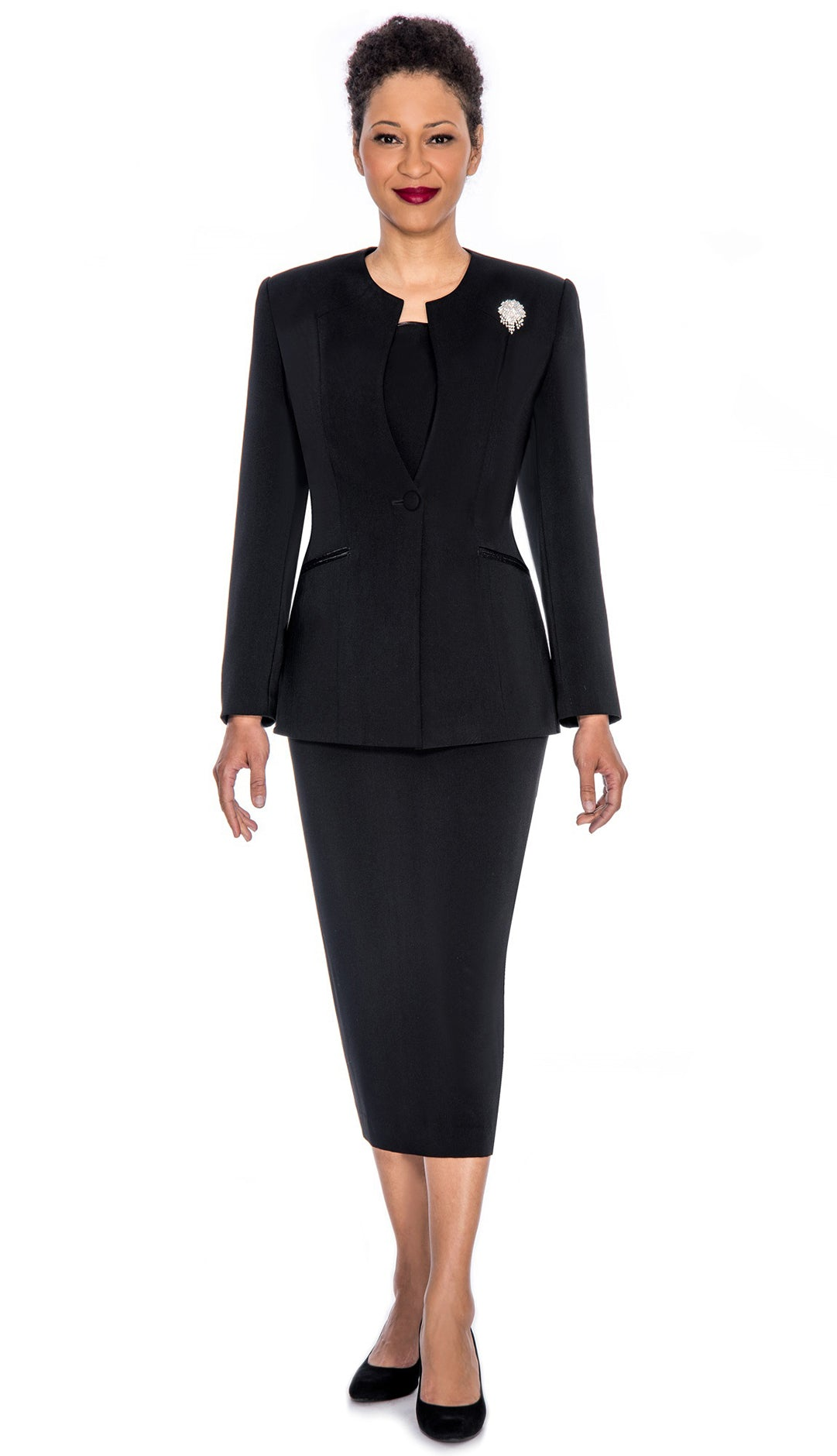 Giovanna Usher Suit 0708-Black - Church Suits For Less