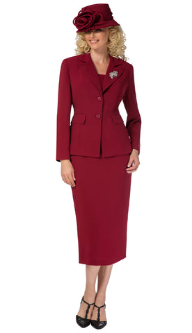 Giovanna Usher Suit 0710-Burgundy