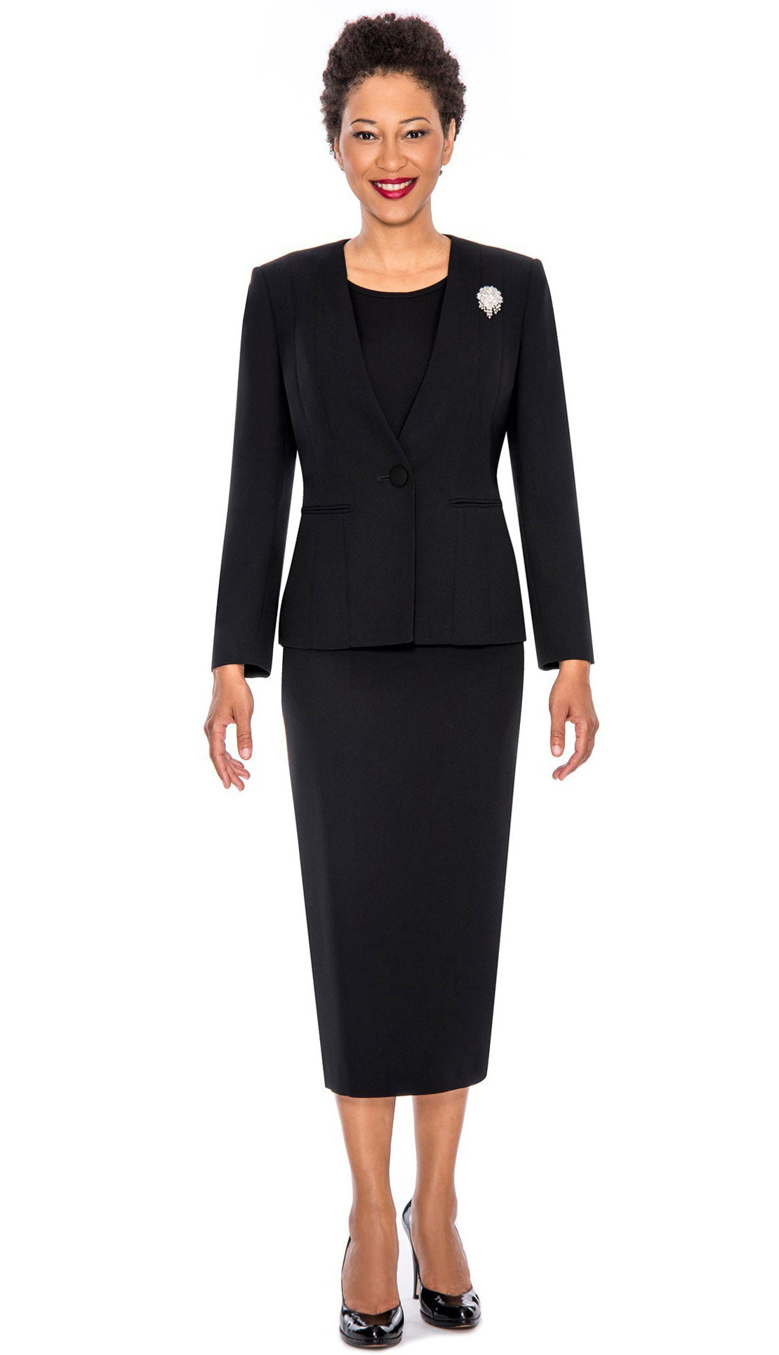 Giovanna Usher Suit 0825-Black - Church Suits For Less