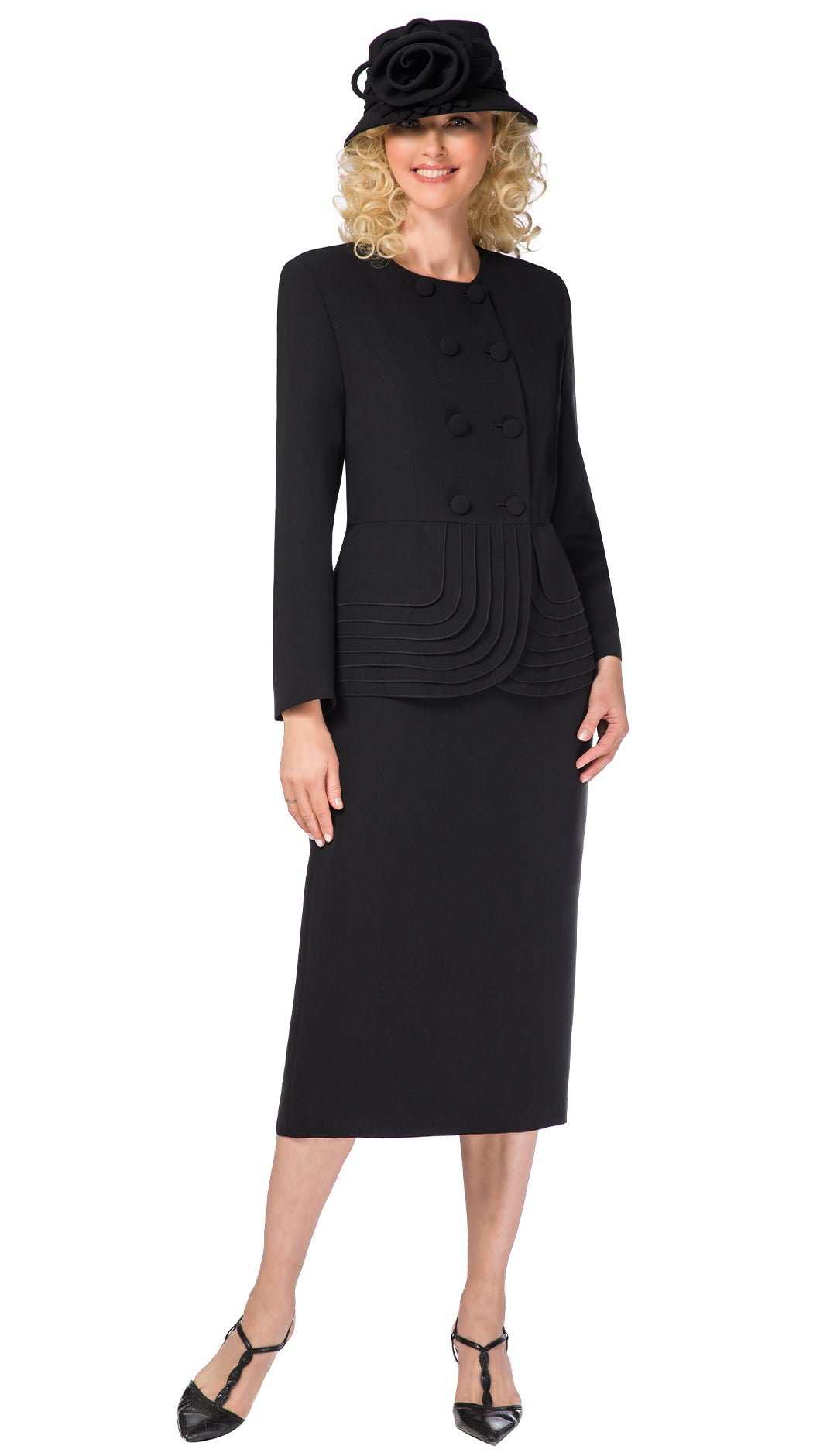 Giovanna Usher Suit 0902-Black - Church Suits For Less