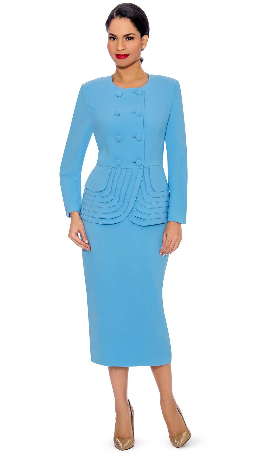 Giovanna Suit 0902-Blue - Church Suits For Less