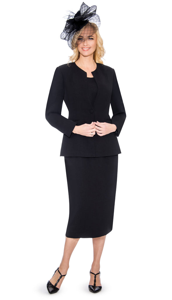Giovanna Usher Suit S0301-Black - Church Suits For Less