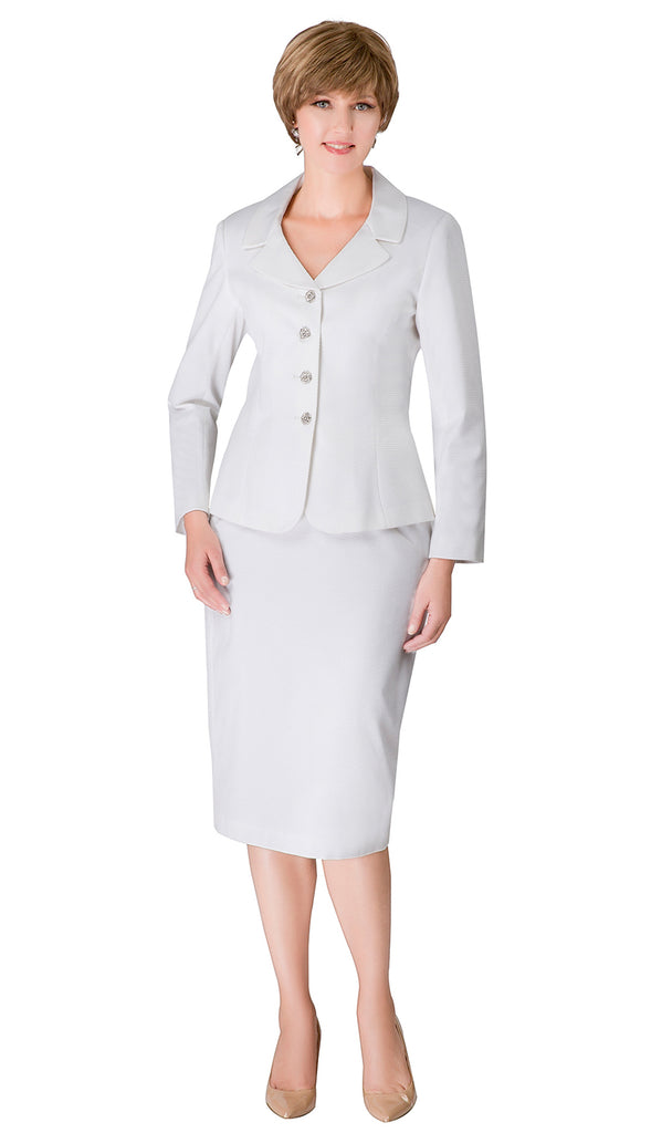 Giovanna Usher Suit S0720-White - Church Suits For Less