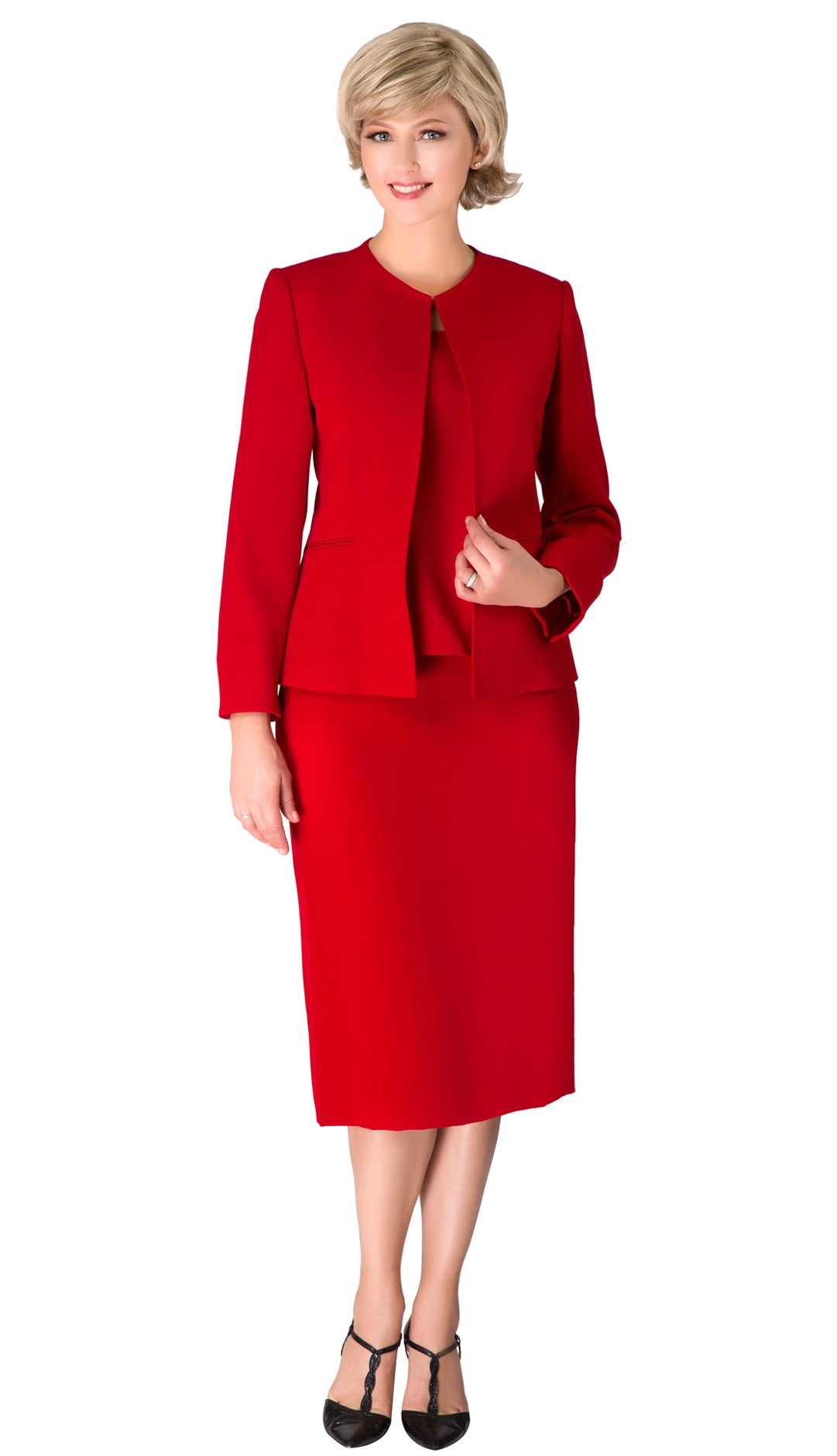 Giovanna Usher Suit S0721-Red - Church Suits For Less
