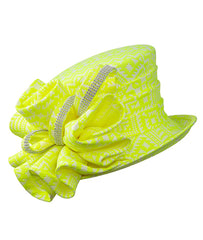 Giovanna Hat HG1124-Lemon Yellow - Church Suits For Less