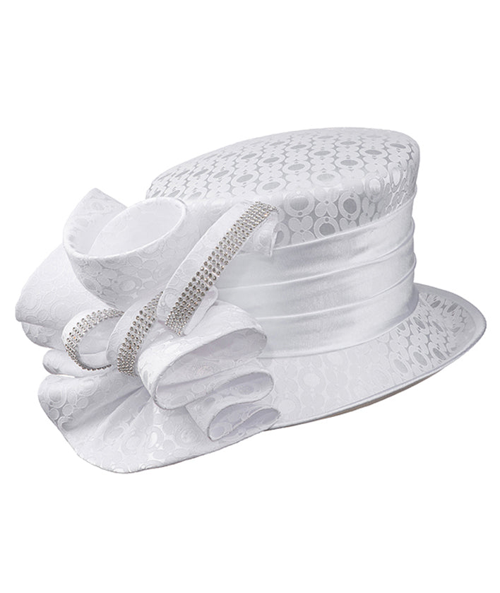 Giovanna Hat HG1142-White - Church Suits For Less