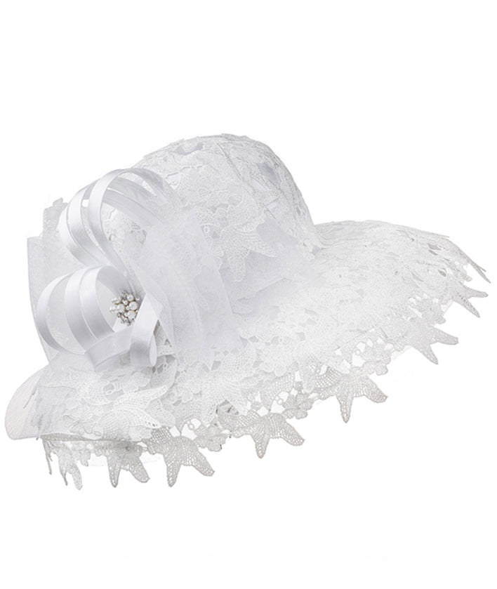 Giovanna Hat HM1020-White - Church Suits For Less