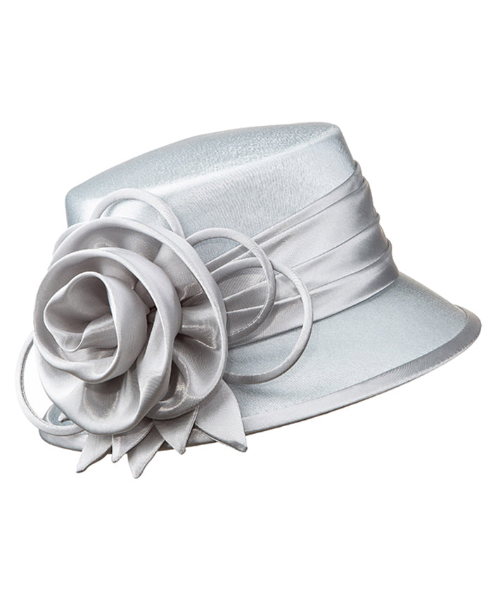 Giovanna Hat HM935-Silver - Church Suits For Less