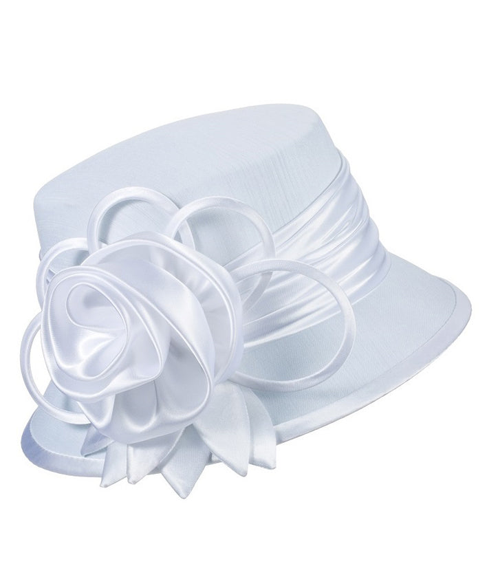 Giovanna Hat HM935-White - Church Suits For Less