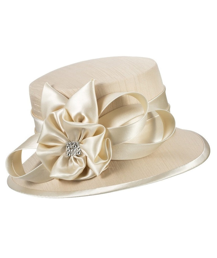 Giovanna Hat HM944-Champagne - Church Suits For Less