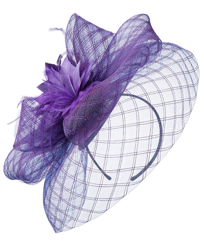 Giovanna Hat HM968-Purple - Church Suits For Less