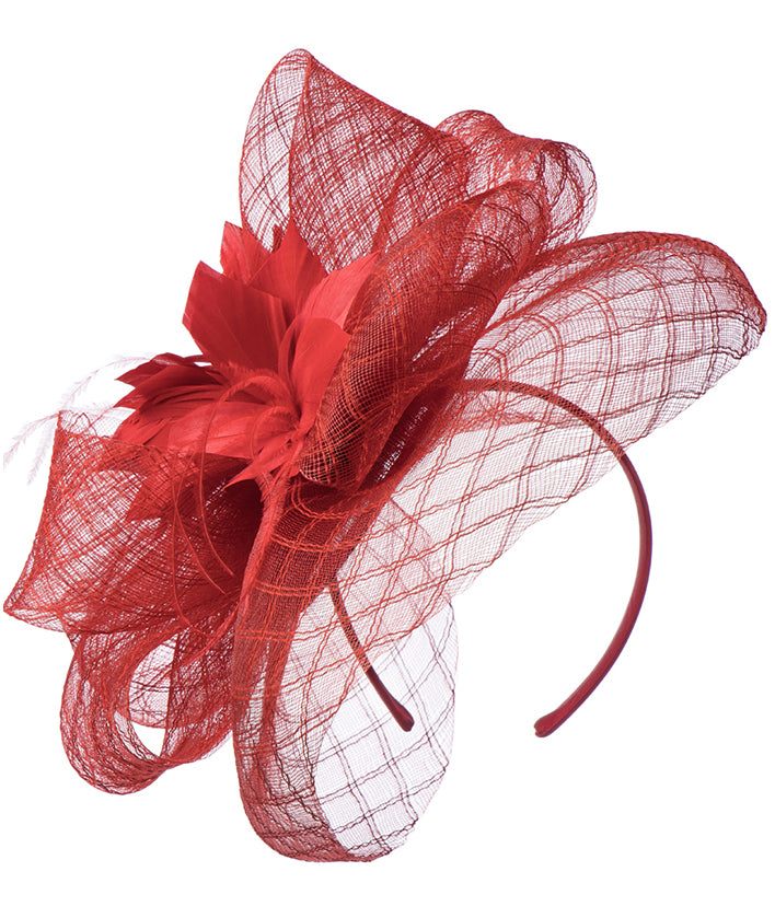 Giovanna Hat HM968-Red - Church Suits For Less