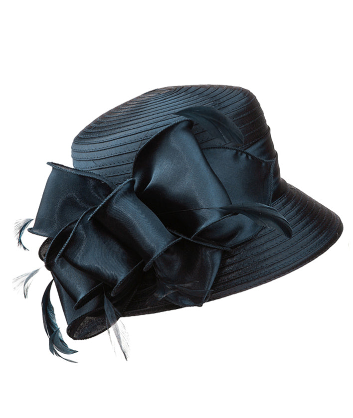 Giovanna Hat HM970-Navy - Church Suits For Less