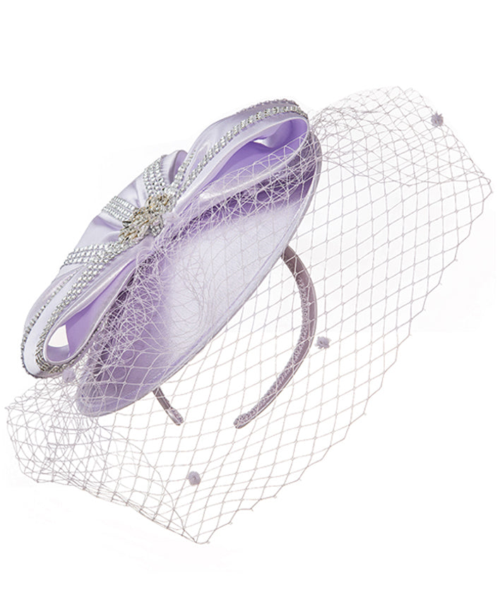 Giovanna Hat HM972-Purple - Church Suits For Less