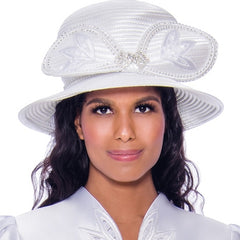 GMI Church Hat 8052-White - Church Suits For Less
